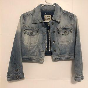 Cropped Mango denim jacket